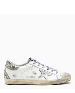 White and purple Superstar low sneakers