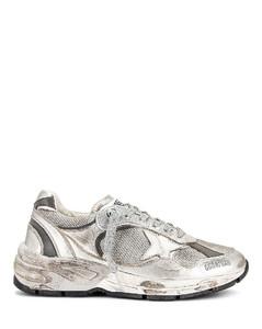 Running Dad Sneaker in Metallic Silver