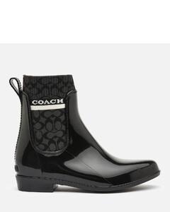 Women's Rivington Signature Knit Rain Boots - Black