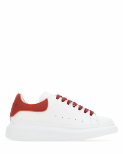 White leather sneakers with red rubber heel Nd Alexander Mcqueen Donna