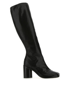 Black leather Tabi sneakers