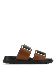Two-tone leather slippers Nd Marni Donna