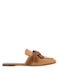 Camel leather Gate slippers Nd Loewe Donna