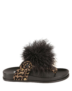 Teddy sneakers in black and white