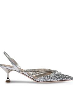 Glitter slingback pumps