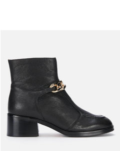 Calf leather riding boots