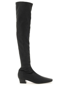 COLETTE STRETCH LEATHER BOOTS