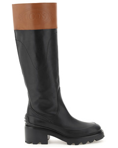BICOLOR LEATHER BOOTS