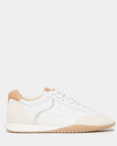 New Olympia white and beige sneakers