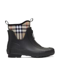 黑色Flinton雨靴