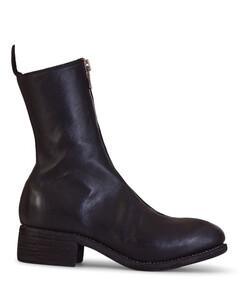 Pl2 Black Horse Leather Boots