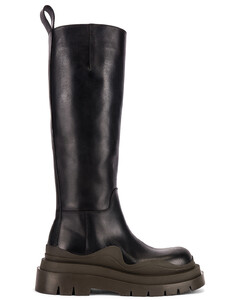 Tire High Top Boots in Black