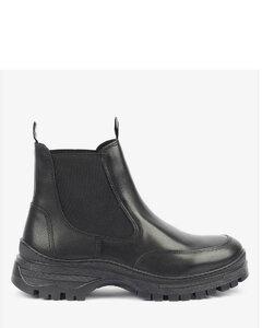 紫色Puffed无带运动鞋