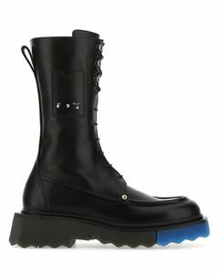 Black nappa leather Sponge boots