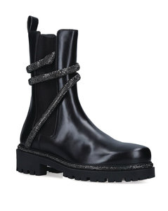 Leather Cleo Biker Boots 25