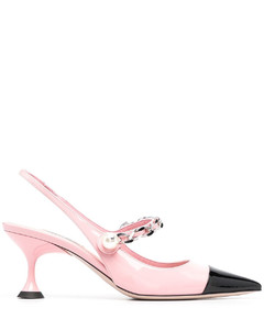 with heel pink