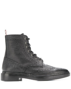 brogue-detail ankle boots