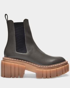Emilie Ankle Boots in Grey Polyurethane