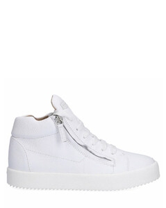 Low-Top Sneakers JUSTY calfskin Logo white
