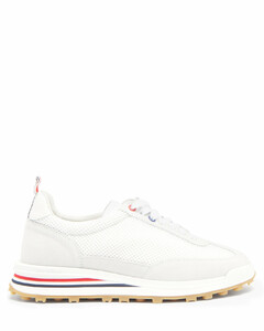Tricolour-stripe mesh trainers
