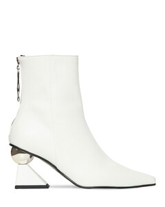 70mm Amoeba Leather Ankle Boots