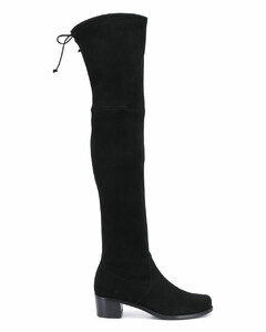 thigh-high flat boots