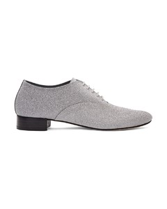 Silver Glitter Zizi Oxfords