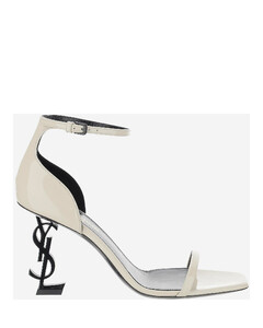 Opyum White Patent Leather High Heel Sandals