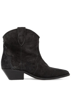 40mm Dewina Suede Ankle Cowboy Boots