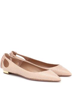 Forever Marilyn蛇紋皮革芭蕾舞平底鞋