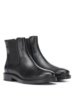 皮革切尔西靴