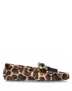 Moccasins GOMMINI pony leather leopard