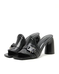 Buckle sandal heels