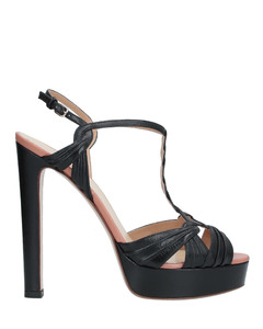 Suede Leather Boots In Black