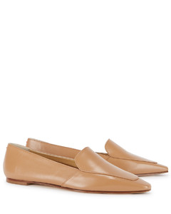 Aurora camel leather loafers