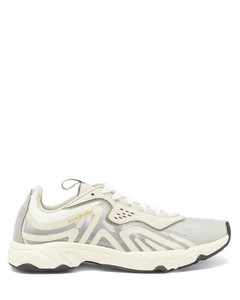 Panelled faux-suede and ripstop trainers
