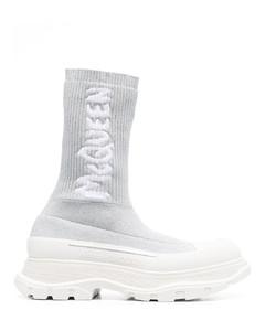 Loafers 60674 calfskin Logo grey