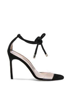 Suede Estro 105 Sandals in Black