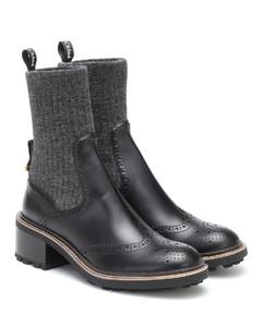 Franne皮革及踝靴