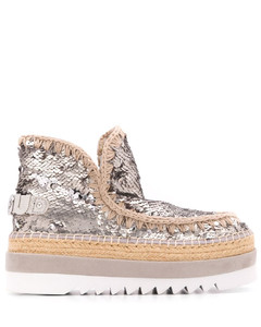 Recycled Satin Mid Knotted Sandal