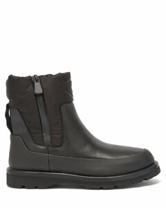 Rain shell-panelled leather après-ski boots