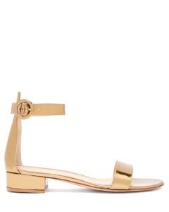 Portofino block-heel metallic sandals