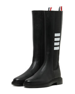 Knee high leather chelsea boots