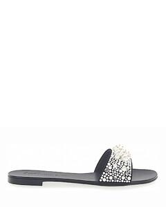 Sandals ROLL 10 Crystal ornament black