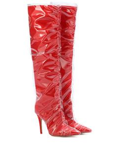 x Off-White Elisabeth 100 satin boots