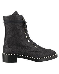 Sondra Glitter Lace-Up Boots