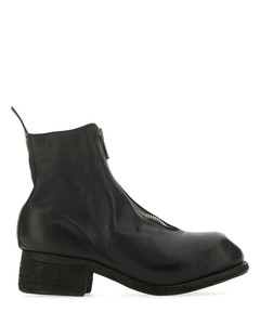 Black leather PL1 ankle boots Black Guidi Donna Uomo
