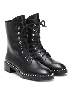 Allie皮革战地靴