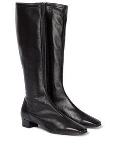 Edie皮革及膝靴