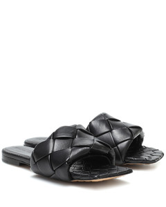 BV Lido leather sandals
